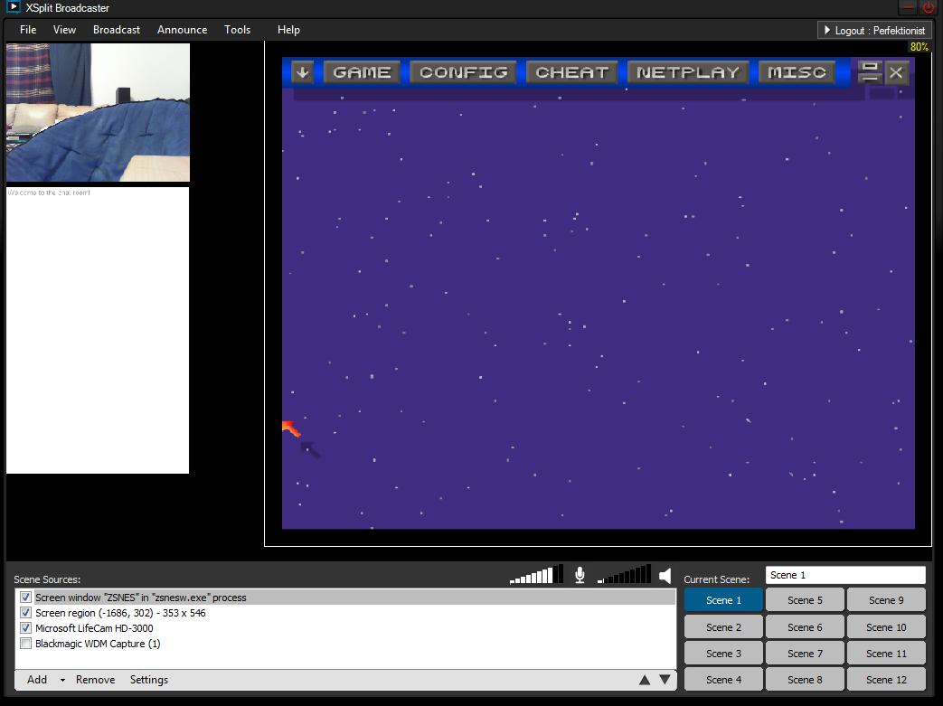 Emulator capture in XSplit